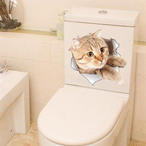 Vivid Kitty 3D Smashed Switch Wall Stickers